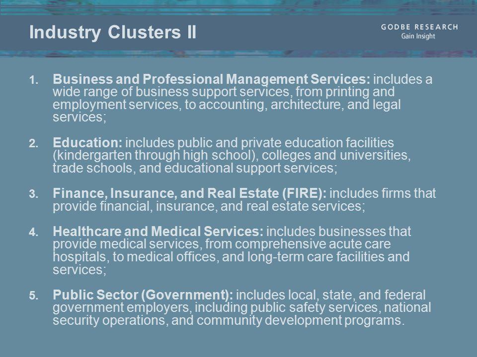 Industry Clusters II 1.