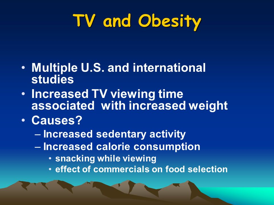 TV and Obesity Multiple U.S.