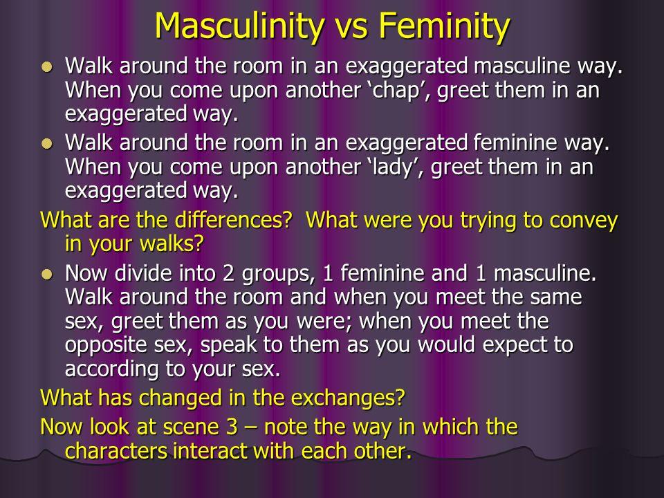 masculinity and femininity