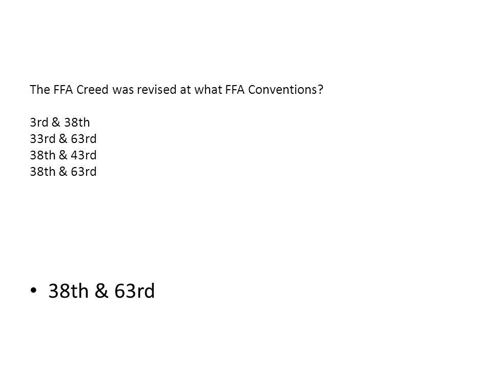 FFA Creed, Bingo - One Less Thing