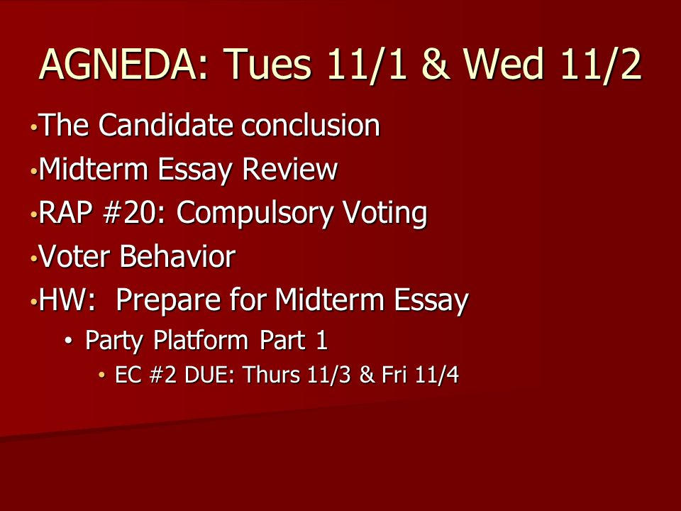the candidate conclusion the candidate conclusion midterm essay  1 the candidate conclusion the candidate conclusion midterm essay