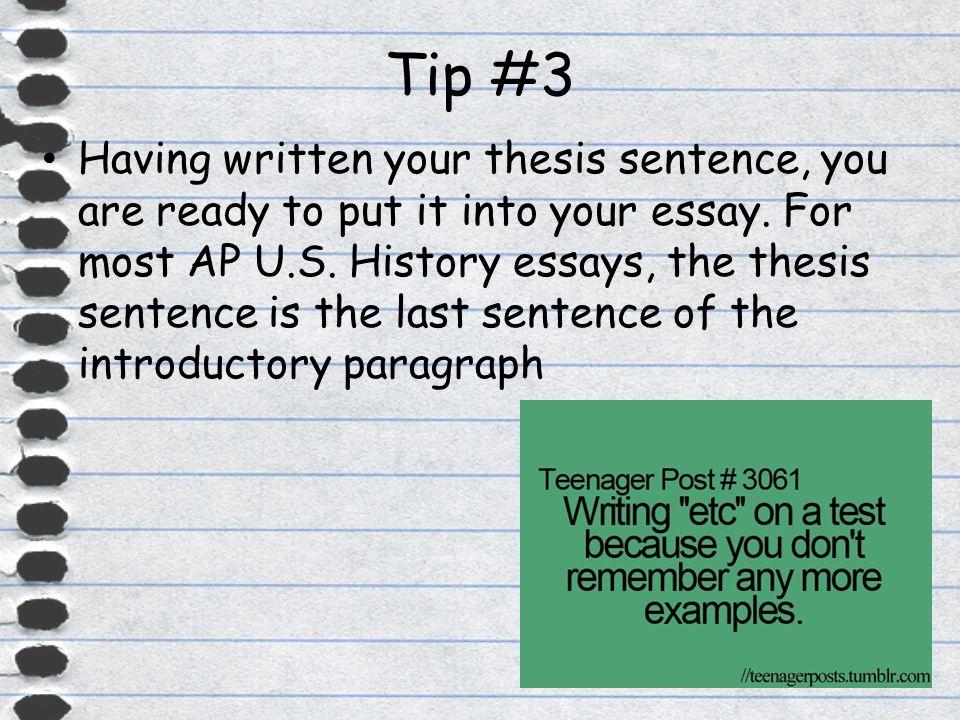 Tips on writing AP US History essays?