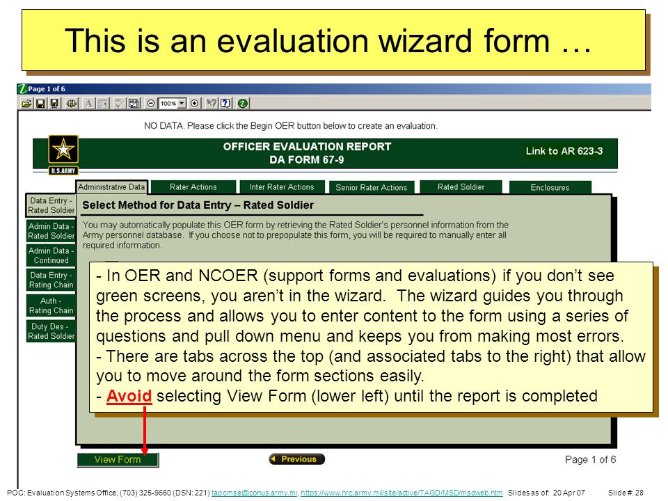 POC: Evaluation Systems Office, (703) (DSN: 221) https://www.hrc ...