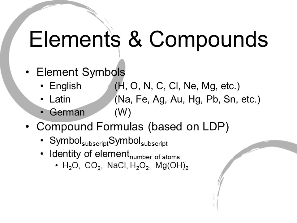 4 elements compounds element symbols - Periodic Table Symbol Pb