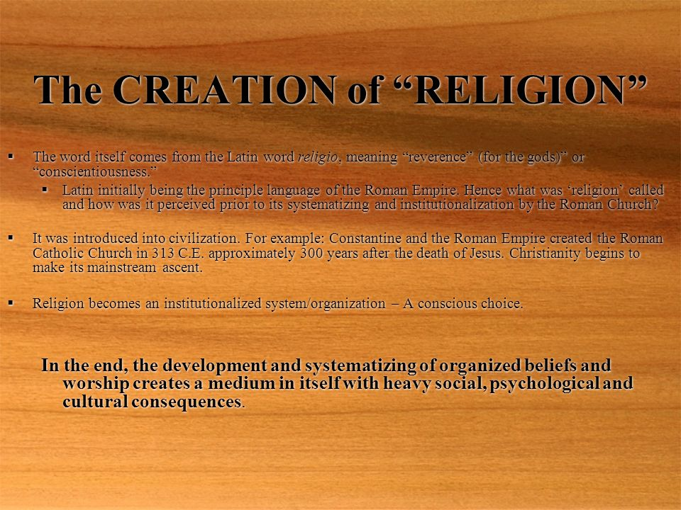Latin Word For Creation