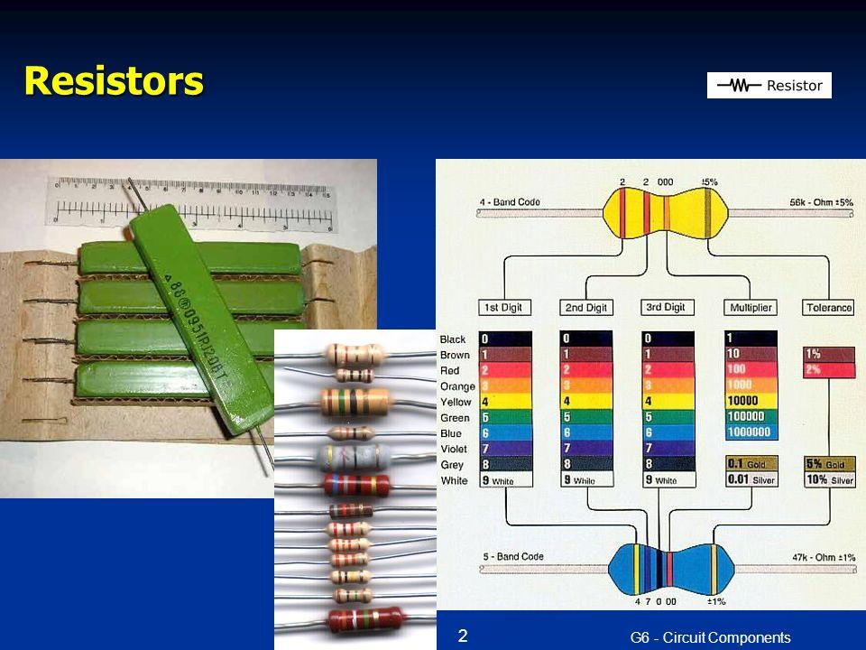 Resistors G6 - Circuit Components 2