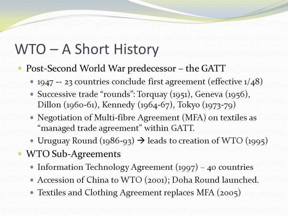 Geoffrey hale political science 3170 the university of lethbridge wto a short history post second world war predecessor the gatt 1947 platinumwayz