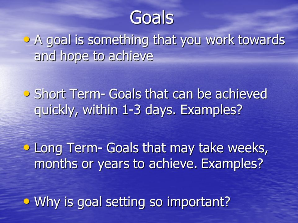 Starting an exercise program Set a goal Set a goal Determine when you will exercise and where.