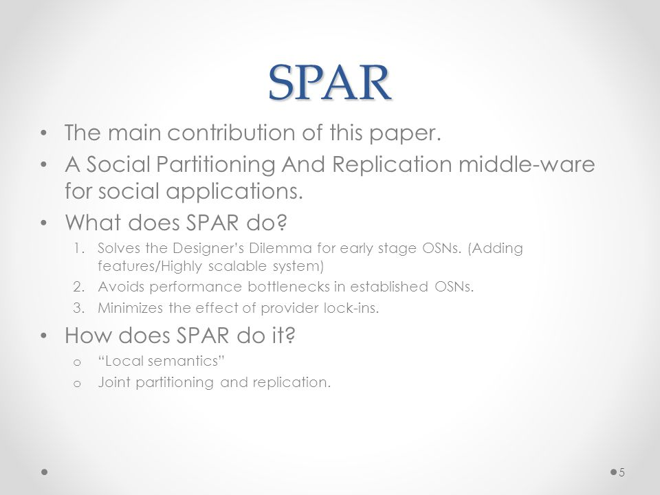 SPAR The main contribution of this paper.