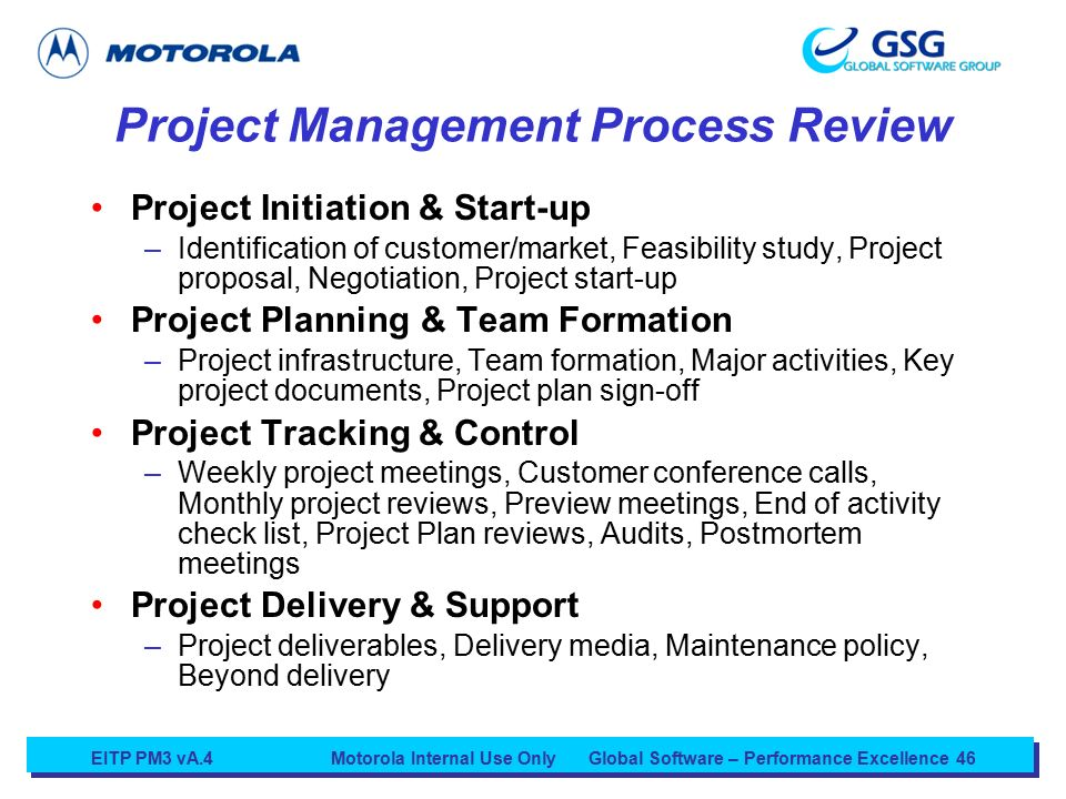 Motorola Internal Use Onlyglobal Software Performance Excellence