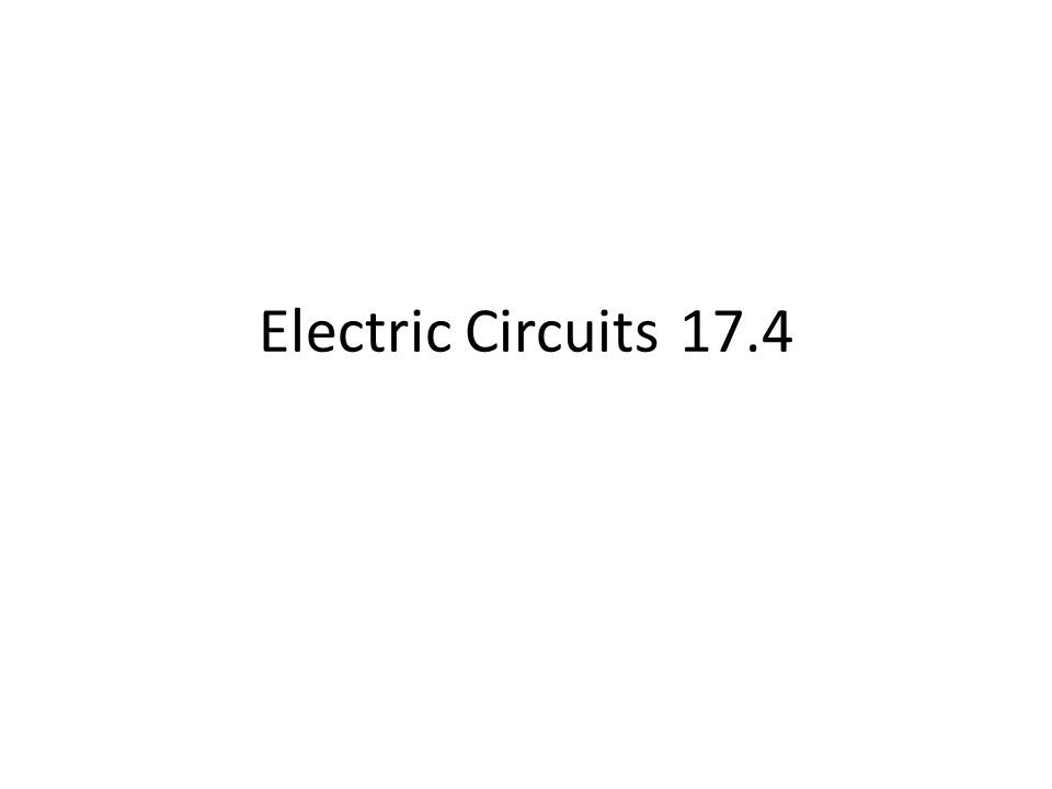 Electric Circuits17.4
