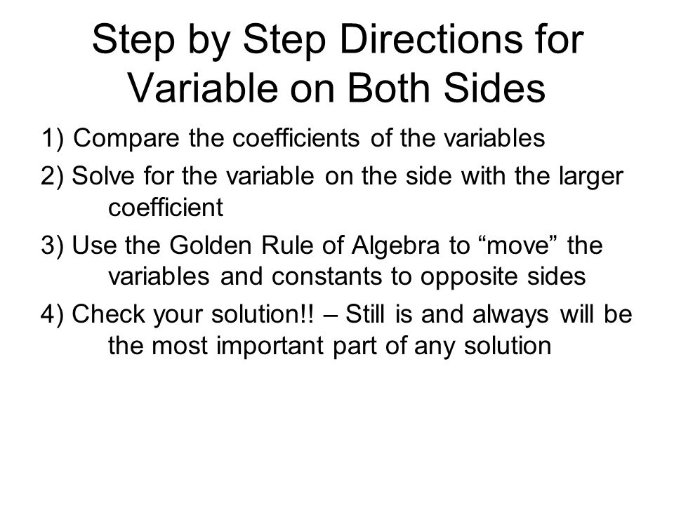 14 Solving Multistep Equations Variables on Both Sides – Equations with Variables on Both Sides Worksheet