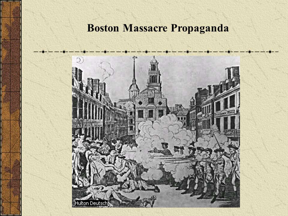 Causes of the Revolution Boston Massacre (1770) Five colonists were killed, including Crispus Attucks (African American, leader of the group) Anti-British propaganda spreads (Revere) John Adams defended the soldiers in court
