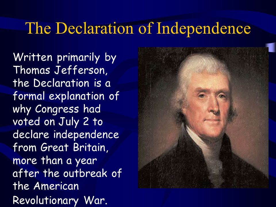 jefferson s justification american revolution By mark hirsch thomas jefferson but jefferson's actions–rather than his words when the american revolution ended in 1783, jefferson was already dreaming.