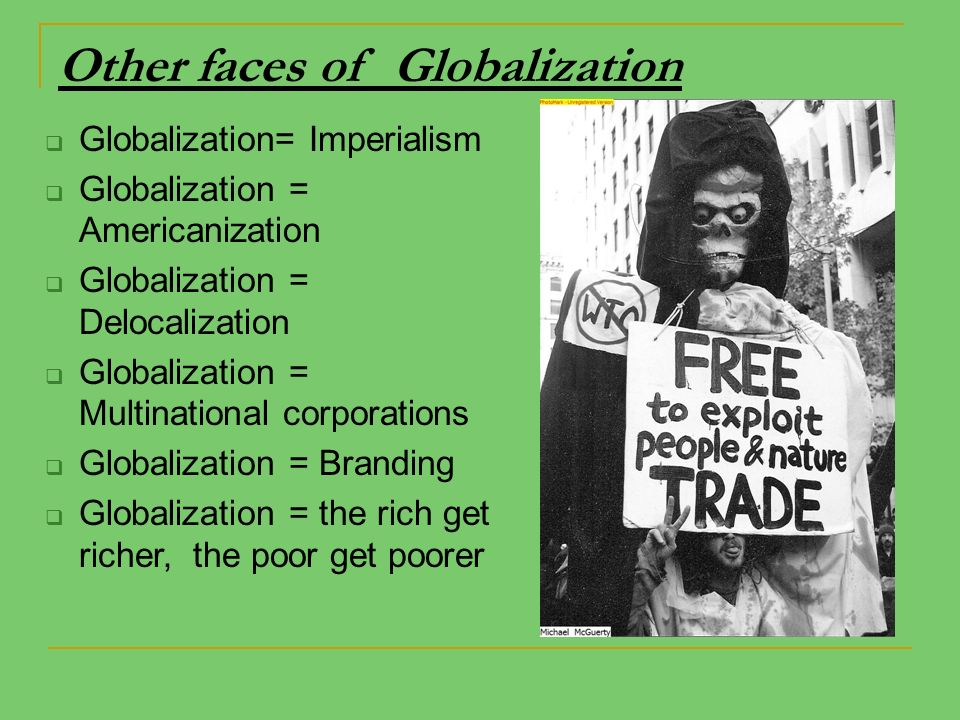 globalization as western imperialism To see globalization as merely western imperialism of ideas and beliefs as the from eco 2009 at suny buffalo.