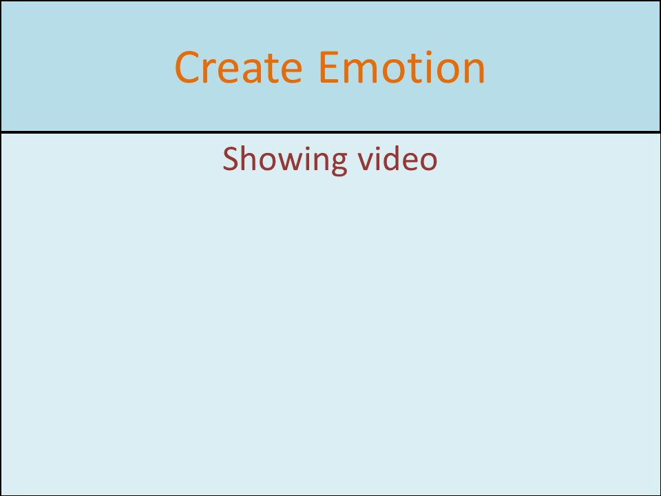 Create Emotion Showing video
