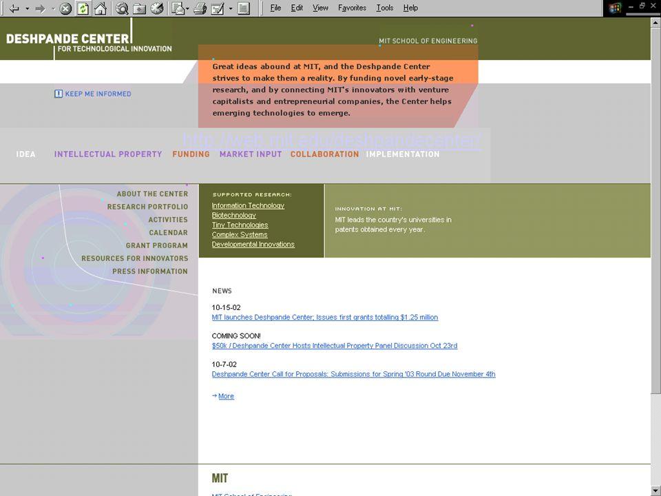 http://web.mit.edu/deshpandecenter/