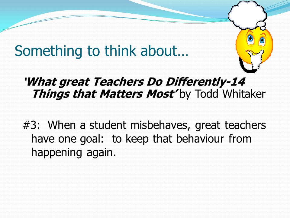 What do you think about teachers??