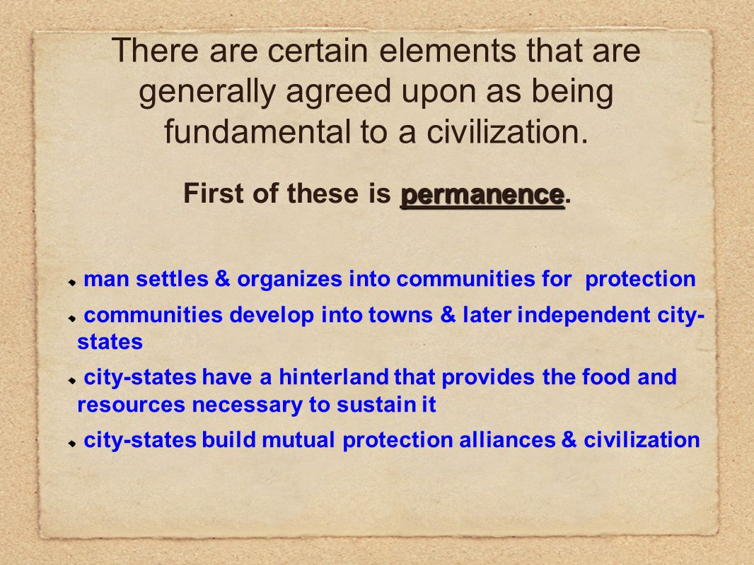What is a civilization?. The term civilization is difficult to ...