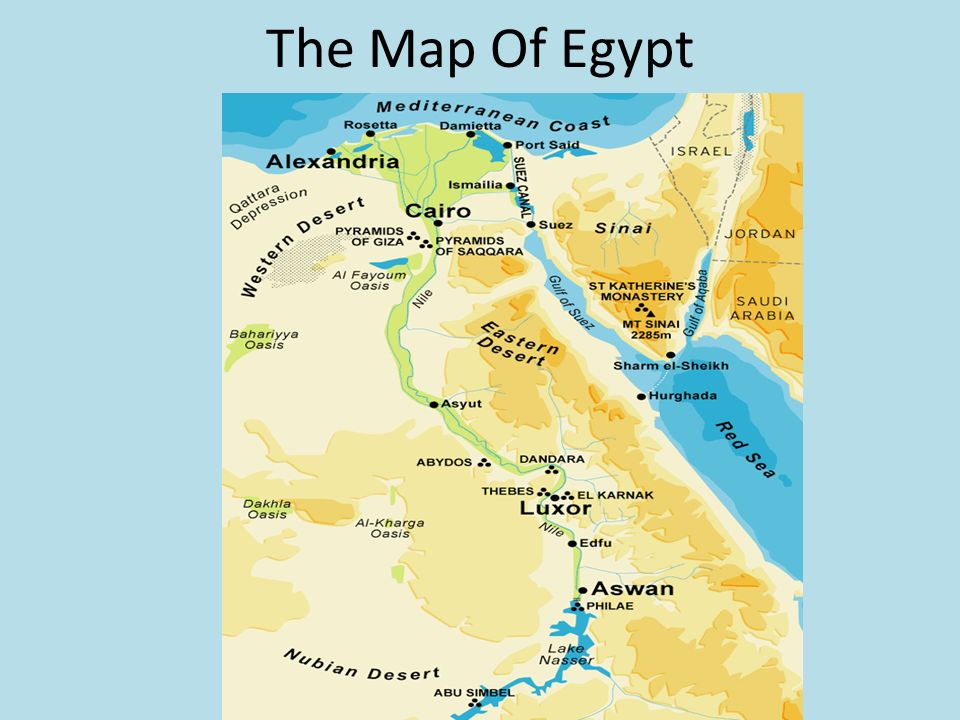 Ancient Egypt By Dana Mahmoud A The Map Of Egypt Ppt Download - Map of ancient egypt for students