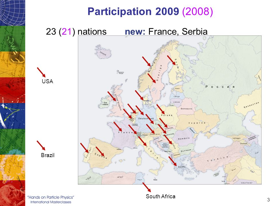 3 Participation 2009 (2008) 23 (21) nations new: France, Serbia USA South Africa Brazil
