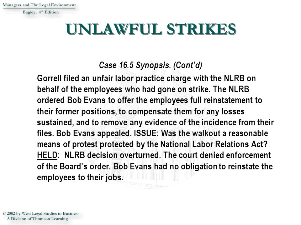 Unfair Labor Practice Charge Under Section 8(e) of the NLRA - NLRB ...
