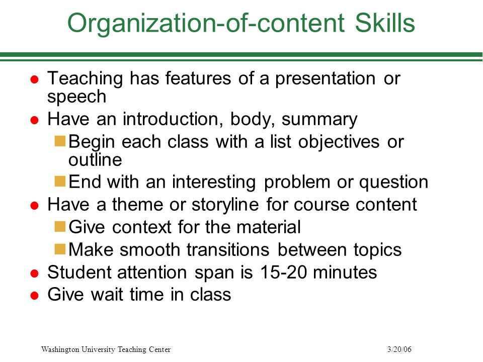 presentation skills regina frey washington university teaching 8