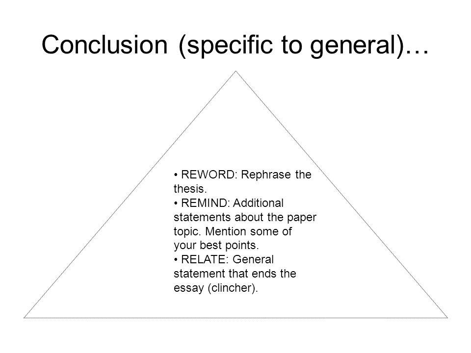 essay conclusion clinchers