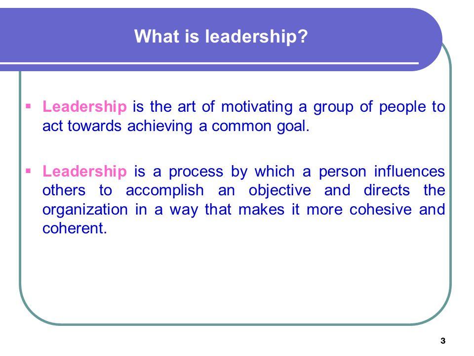 3 What is leadership.