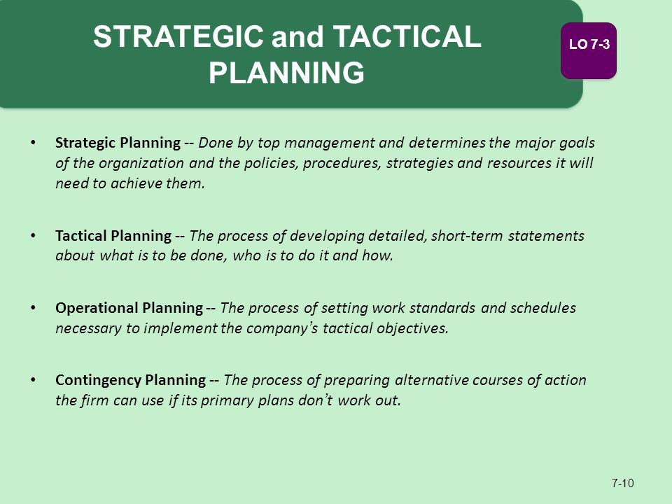 nestle tactical operational and strategic plans