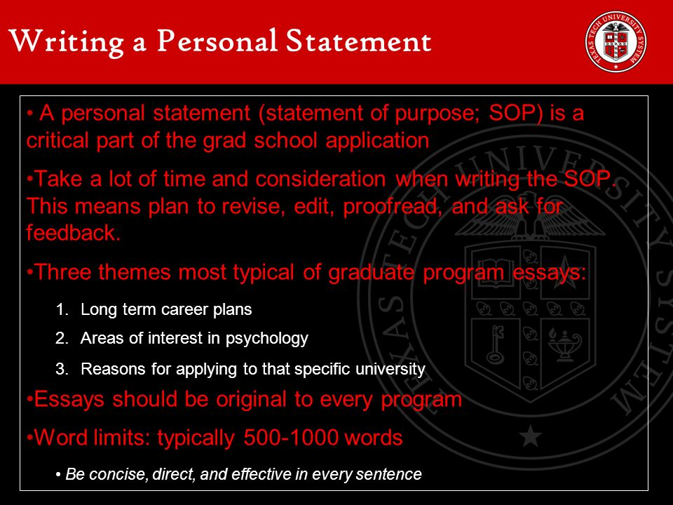 Writing A Personal Statement For University Masters