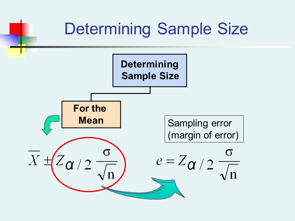 Chapter 9 section 4 Sample Size Essential Question: How do we ...