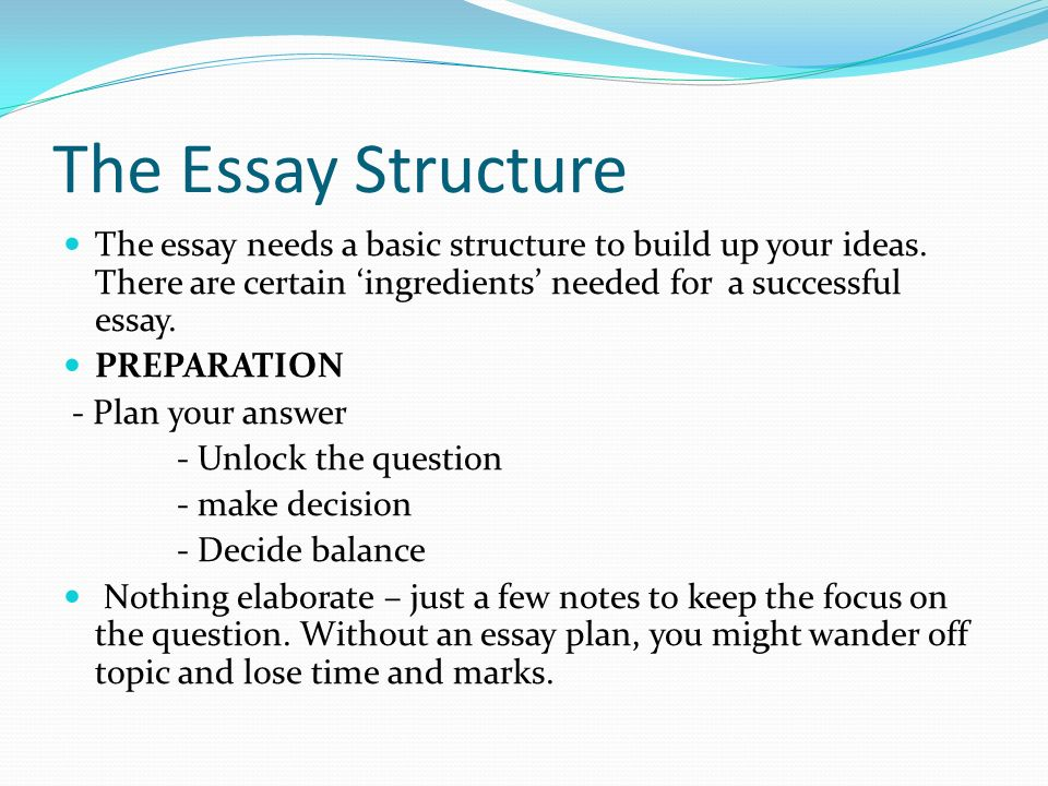 style in writing an essay questions