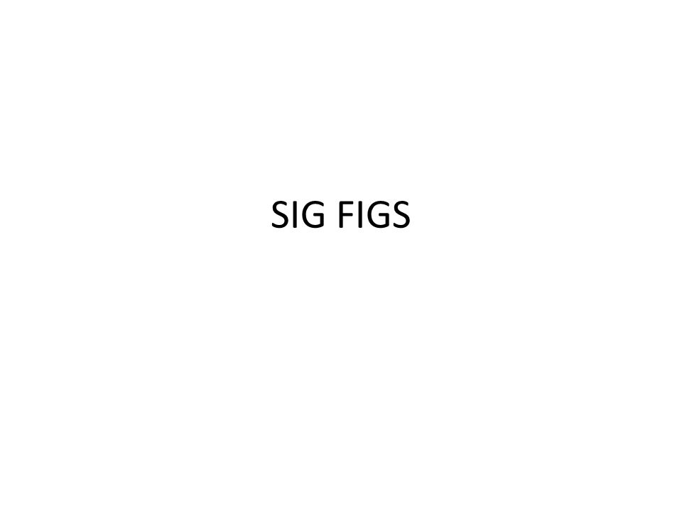 Significant digits rules ppt presentation