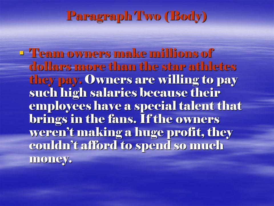 Do athletes deserve their salaries essay