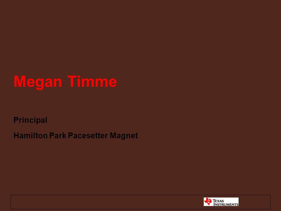 Megan Timme Principal Hamilton Park Pacesetter Magnet