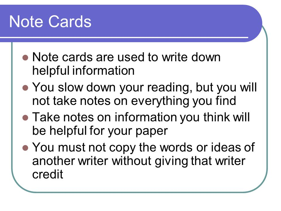 What Are Note Cards Used For In A Research Paper - image 2