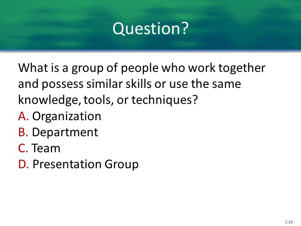 1-19 Question.