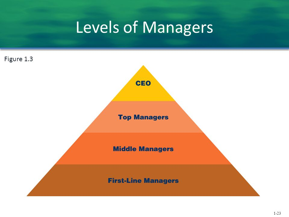 1-23 Levels of Managers Figure 1.3