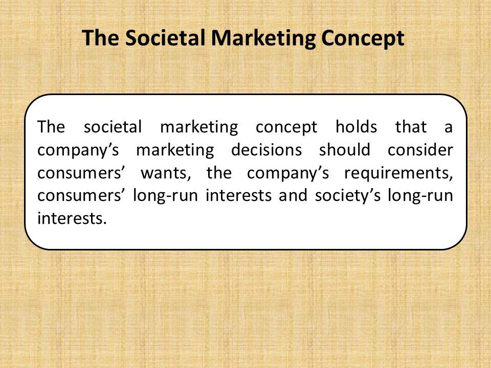 Why should companies use SOCIETAL marketing?