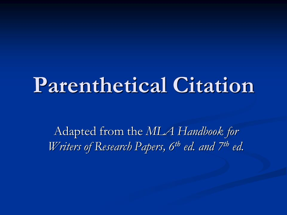 mla style parenthetical citations Citefast is a free apa, mla and chicago citation generator generate references, bibliographies, in-text citations and title pages quickly and accurately used by students and professionals.