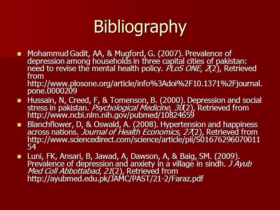 Bibliography Mohammud Gadit, AA, & Mugford, G. (2007).