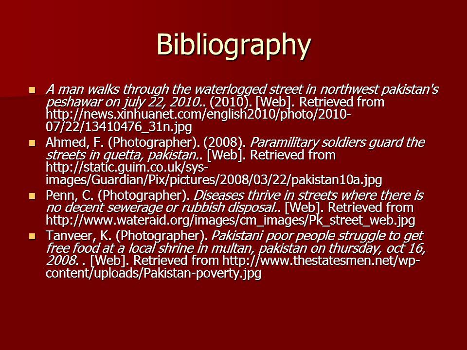 Bibliography A man walks through the waterlogged street in northwest pakistan s peshawar on july 22, 2010..