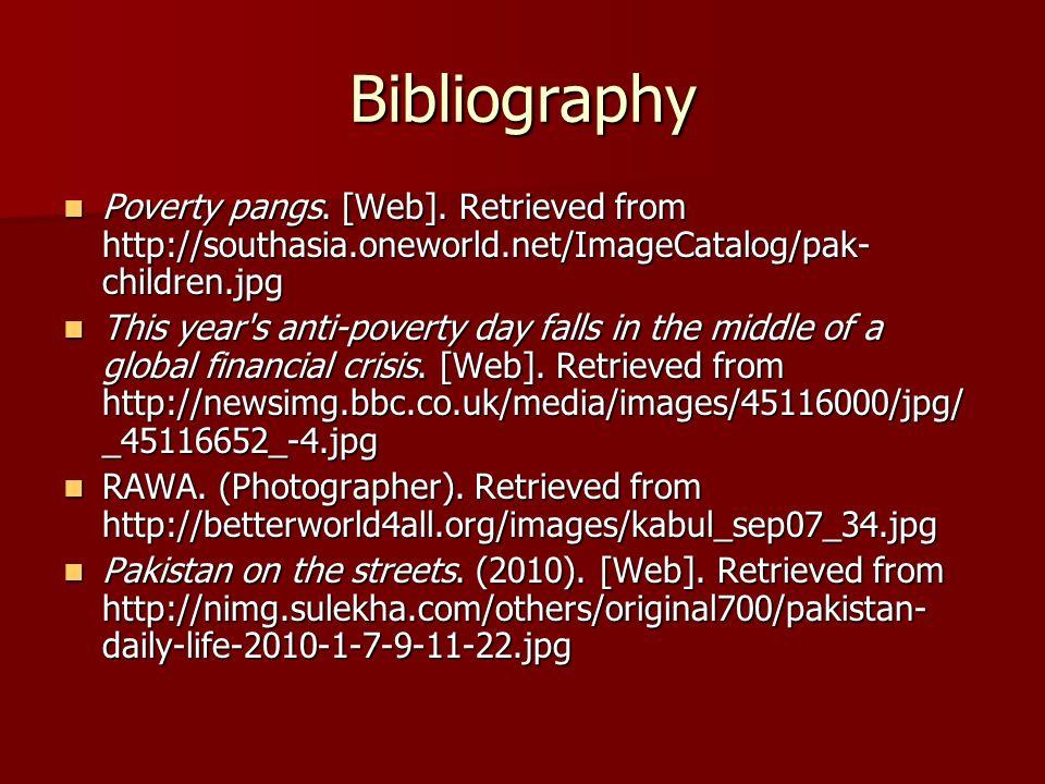 Bibliography Poverty pangs. [Web].