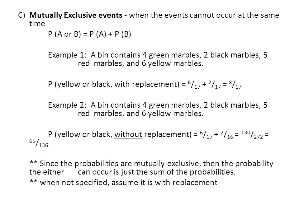 Compound Probability PreAP Geometry Compound Events are made up – Compound Events Worksheet