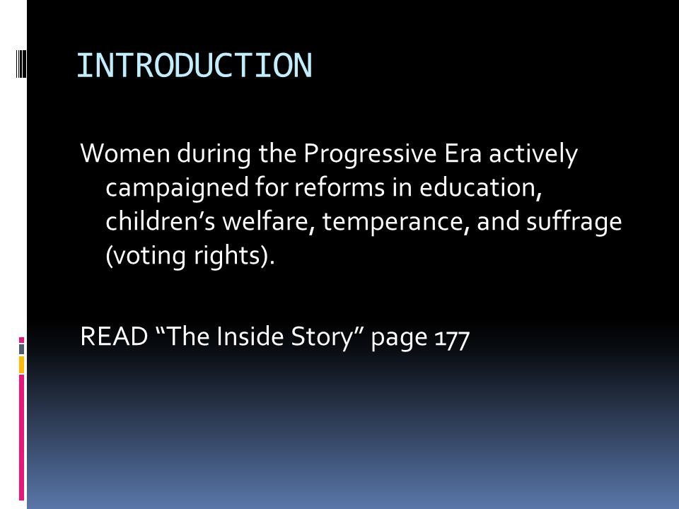 reform during the progressive era essay Essay on progressive era and the new deal progressive era and the new deal (question 5) during the progressive era, the reformers were stricter and did not provide direct help, while the reformers in the new deal were a little more direct in helping americans.