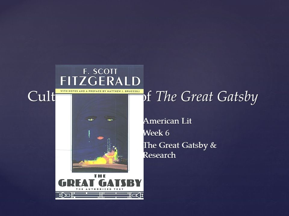 the great gatsby research gatsby is