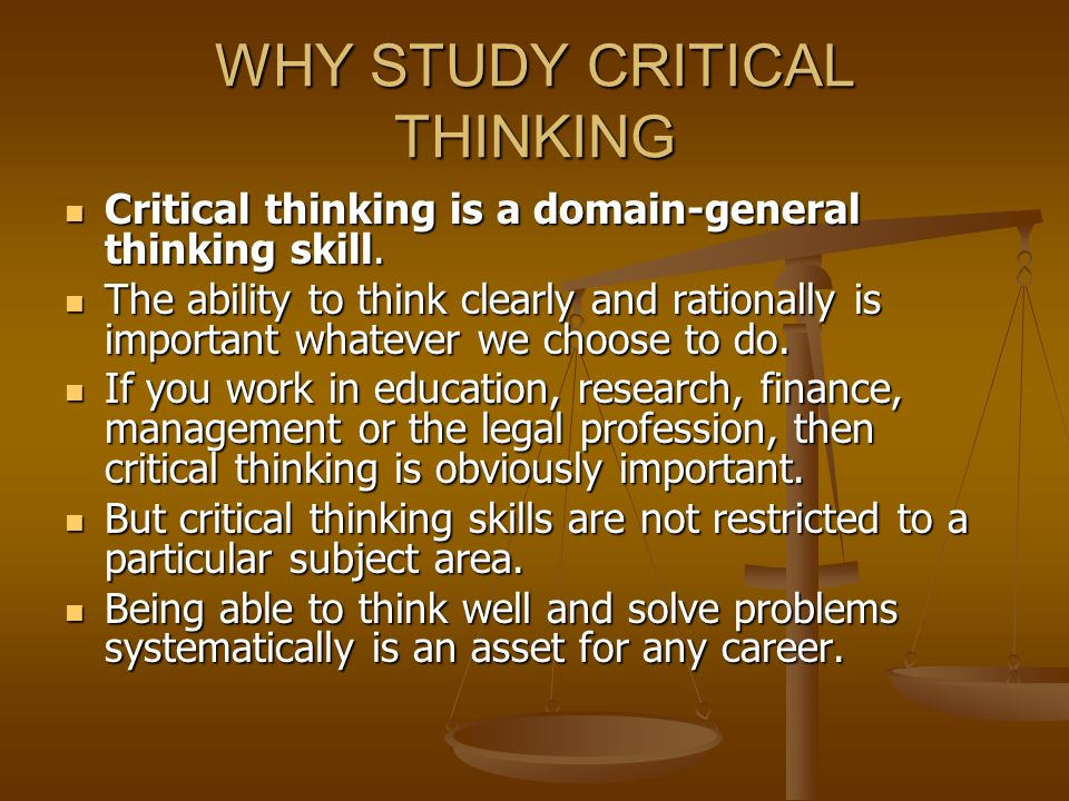 is critical thinking important in nursing In fact, critical thinking is considered so important, the national league for nursing (nln) added it as a mandatory criterion for accreditation of schools of nursing 20 years ago maybe nurses are trend setters from the wealth of evidence out there on the web, critical thinking is a big topic it's probably too big for just one blog post, so here are seven.