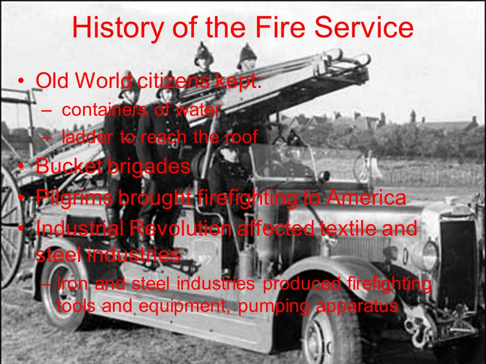 Vintage bickle fire apparatus