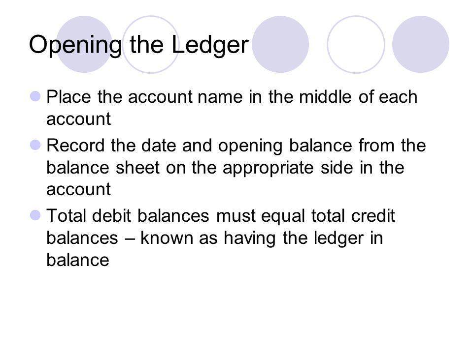 opening balance sheet